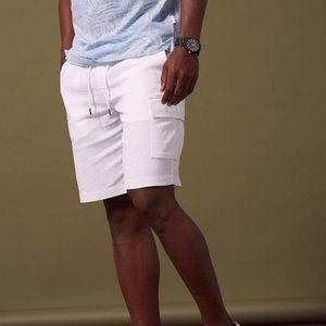NWT Cubavera Linen-Blend Drawstring Shorts